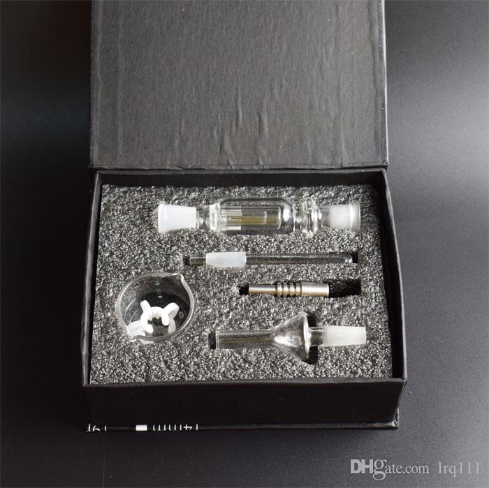 Hot Selling Micro Nectar Collector Kit Micro NC 10mm with glass nail &Titanium Nail Ash Catcher Dab Straw Big Sale