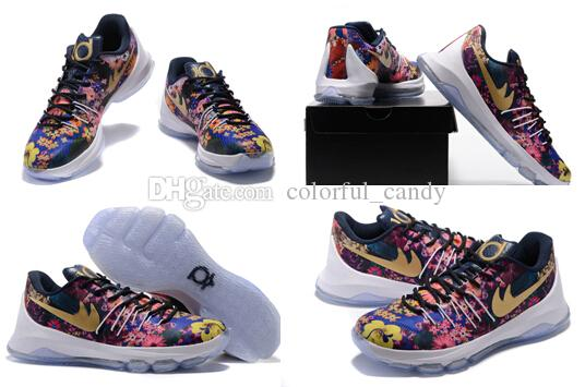 359af333500e ... order kd8 floral mens basketball shoes kd 8 kevin durant sneakers mens  sneaker shoes new arrival