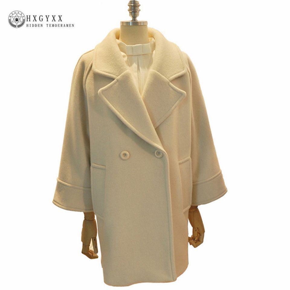 84bfd2e937 2019 Women Cashmere Coat 2017 New High Quality Straight Warm Winter Woolen  Jacket Raglan Sleeve Buttons Elegant Wool Overcoat Oka634 From Motoshop