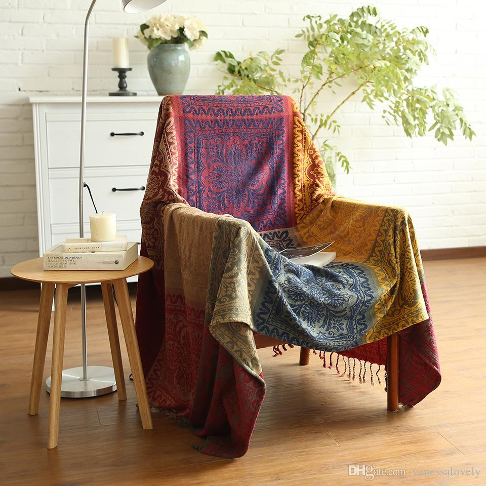 Chenille Colors Blankets Bed Spread Sofa Chair Throw Cover Table Cloth  Picnic Travel Airplane Blanket Tapestry Home Decorative Carpet Purple  Heated Throw ...