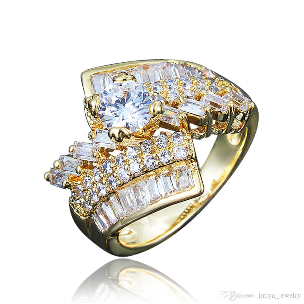 2018 Classical Design Dubai Gold Plating Statement Ring From ...