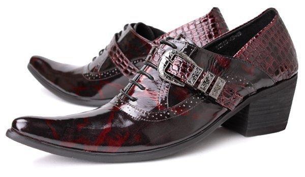 cfad4f63c Top marca de sapatos masculinos caminhadas sapatos de cristal fivela clássicos  sapatos masculinos dedo do pé quadrado dos homens Itália sapatos Oxford ...