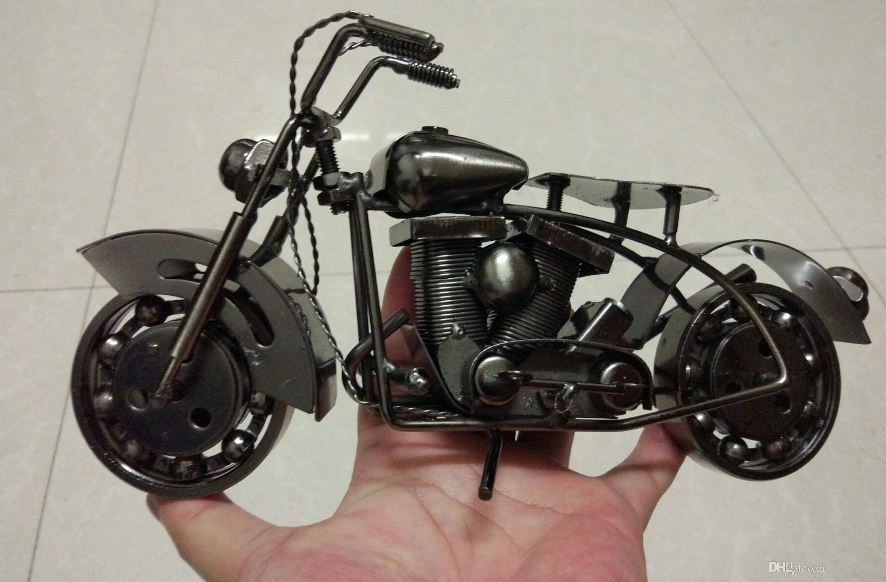 GRAND À LA MAIN en métal modèle motos de Fer Moto Modèles En Métal Artisanat pour Homme Cadeau D'affaires Cadeaux Décoration de La Maison voiture