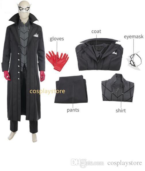 Game Character Persona 5 Kaitou Cosplay Costume For Men Joker Anime Cosplay  Men Full Set Uniform For Halloween