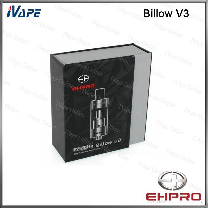 Ehpro Billow V3 RTA Atomizzatore 4.6ml 100% Originale Ehpro Eciggity Billow V3 Serbatoio 2 Post Velocity Style Coperchio Fondo Ciclope Controllo del flusso d'aria