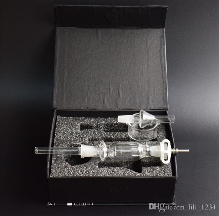 Colector de néctar caliente colector de néctar de 10 mm tubo de fumar agua Colector de ceniza de tungsteno kit de caja de regalo de vaporizador de ceniza
