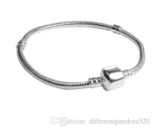 Wholesale 925 Sterling Silver Charm Bracelets 3mm Snake Chain Fit Pandora  Charms Bead Bangle Bracelet Fashion Jewelry DIY Gift For Men Women  Stainless Steel ... 704e77b2e