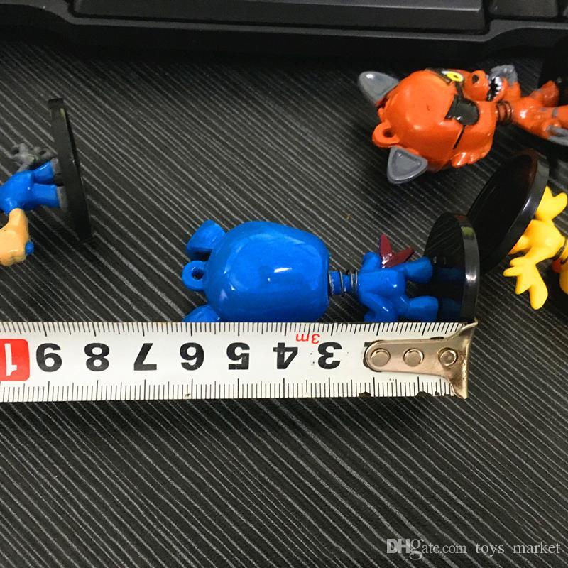 / set 6cm cinq nuits au Collection de dessins animés de figurines Freddy, jouets, ours en peluche, renards, canards, lapin