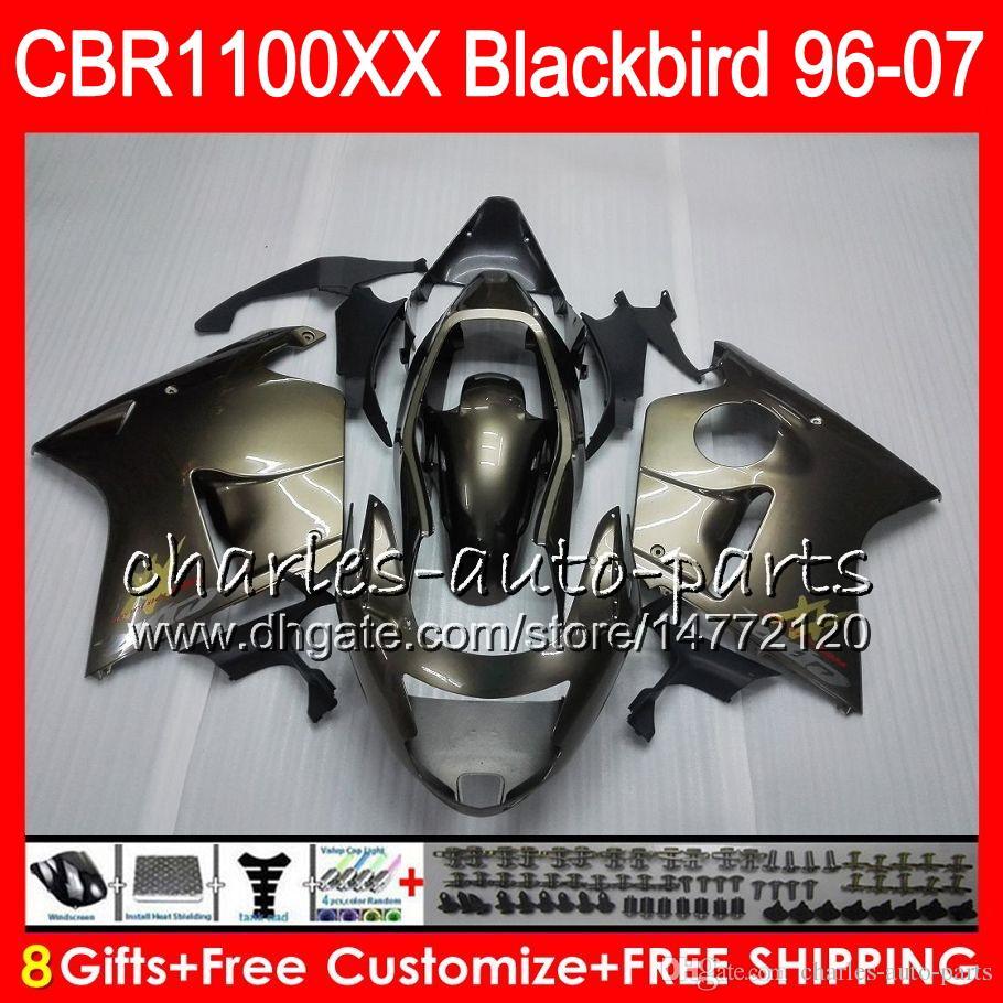 Body For HONDA Blackbird CBR1100 XX CBR1100XX ALL Titanium 6 97 98 99 00 01 81NO14 CBR 1100 XX 1100XX 1996 1997 1998 1999 2000 2001 Fairing