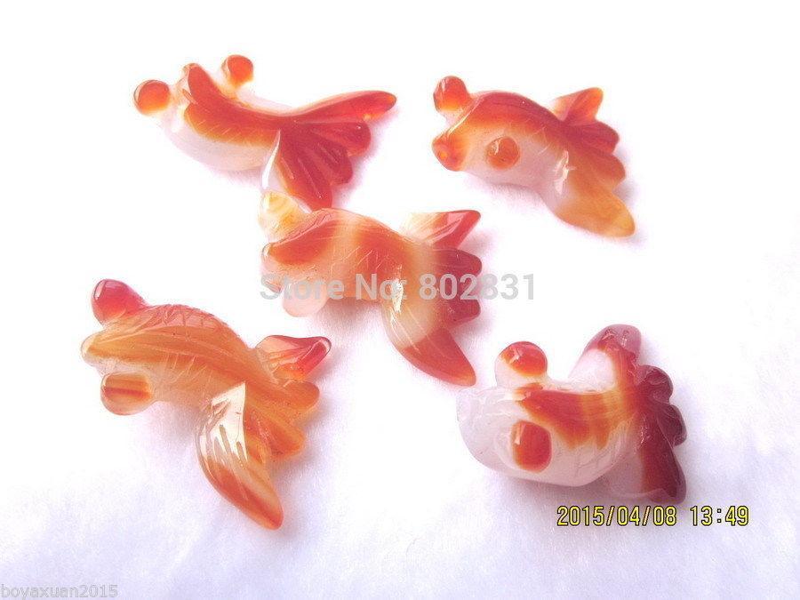 도매 빈티지 중국 chalcedony / 옥 새겨진 펜 던 트 - 물고기