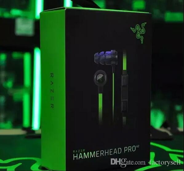 razer hammerhead pro v2 in ear earphone headphone with microphone retail box gaming headset. Black Bedroom Furniture Sets. Home Design Ideas
