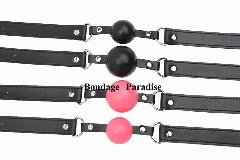 Bondage Paradise - New open mouth bondage silica gel ball gag passion flirting BDSM mouth gags sex product toys