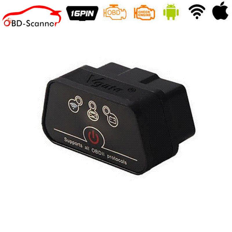 New Arrival car-detector Vgate WiFi iCar 2 OBDII ELM327 iCar2 wifi vgate OBD diagnostic interface for IOS iPhone iPad Android