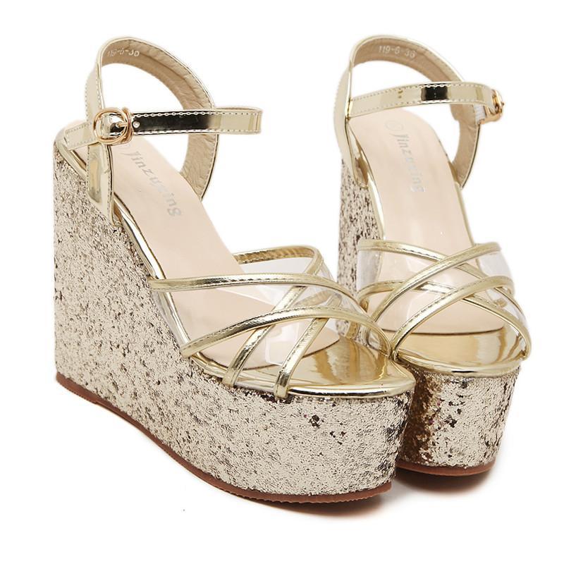 De Jelly Mujer Llegada Para Nueva Sandalias Gladiador Verano Zapatos Barato Plataforma Calado Cuña pzVSMqU