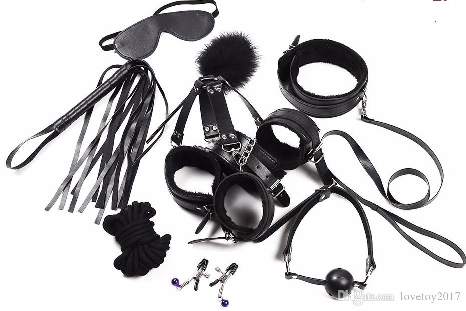 Hot Sex Products New Leather Bdsm Bondage Set Restraints Adult Games Sex  Toys For Couples Woman Slave Game SM Sexy Erotic Toys Handcuff Device  Bondage Latex ...