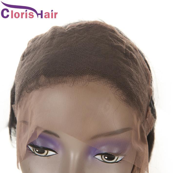Onda del corpo Raw Virgin Capelli umani indiani Pizzo frontale 360 Chiusure Prese naturale Attaccatura dei capelli Frontali completi 360 Pizzo Cinturino bagnato e ondulato