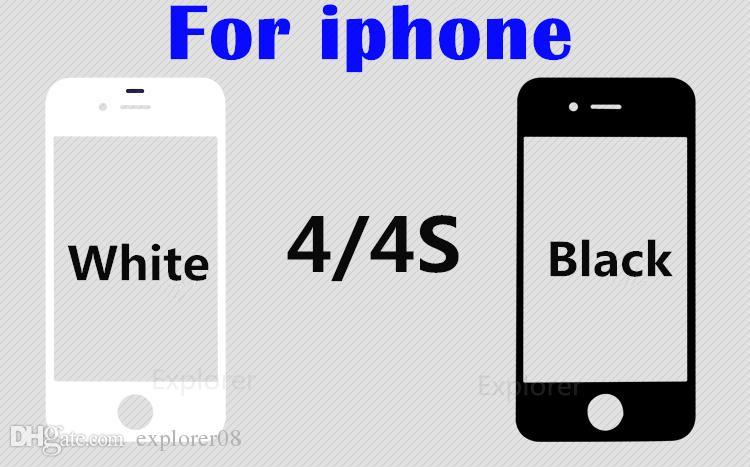 الصف A + آيفون 4 5 6 عدسة الزجاج الخارجي الأمامي مع فيلم OCA قبل تجميعها لسامسونج غالاكسي S4 S5 أسود أبيض