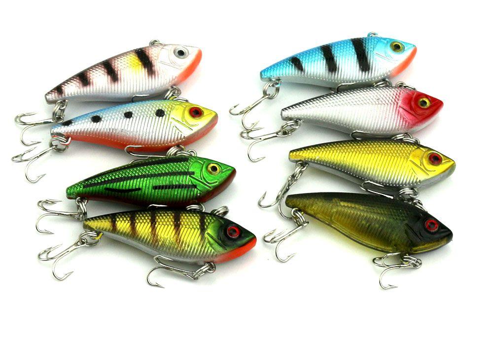 Hengjia fishing lures vib plastic hard bait minnow 5cm 6g for Cheap bass fishing tackle