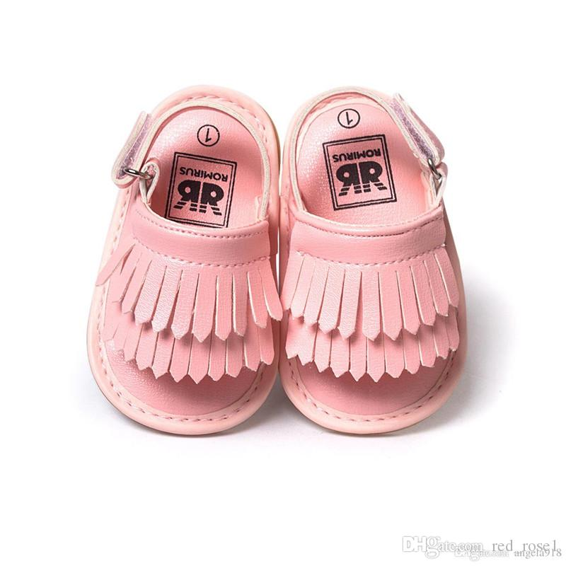 개의 Tassels mocassions 아기 신발은 부드러운 신발 샌들 DHL 무료 배송 밑창 첫 번째 워커 신발 8 컬러 아기 첫 번째 워커 새로운 아기 PU 가죽