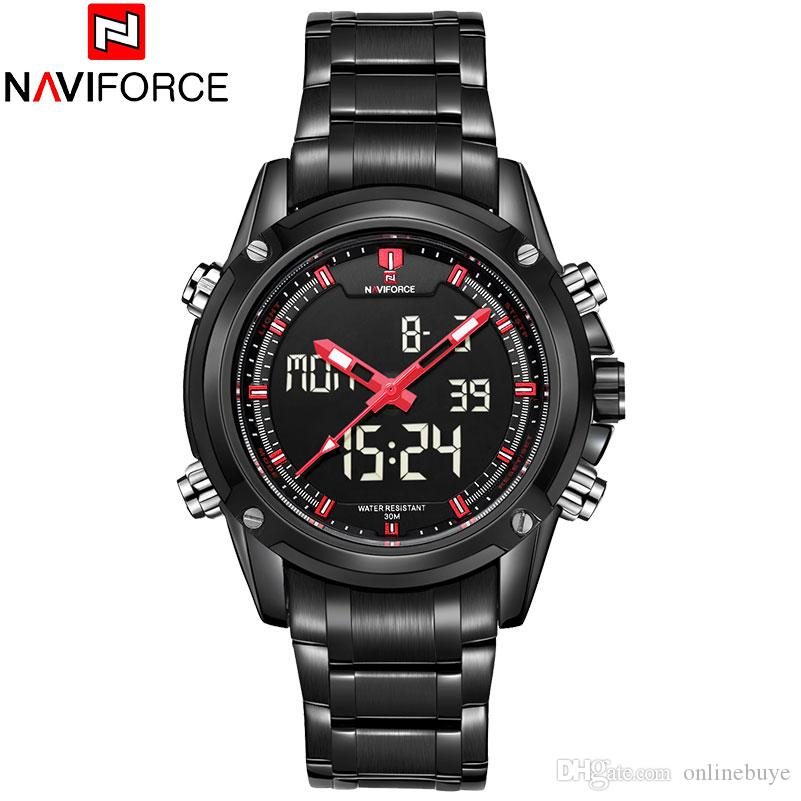 bcc0cd051 NAVIFORCE Men Watches Luxury Brand Men's Quartz Hour Analog Digital LED  Sports Watch Men Army Military Wrist Watch Relogio Masculino