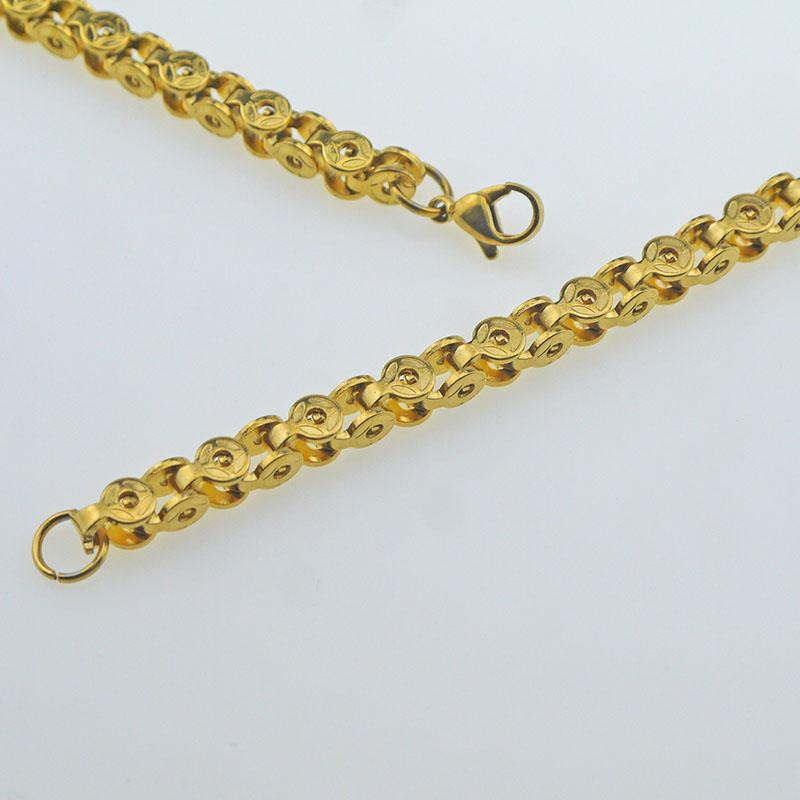 Lobster claw buckle chain chain 304 stainless steel material gold