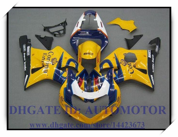 Инъекции 100% новый обтекатель комплект подходит для Suzuki GSXR1000 2000 2001 2002 GSX-R1000 00 01 02 GSXR 1000 00 01 02 #H9Y48 желтый синий