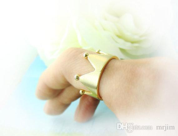Große Krone Sterling Silber Offener Ring Frauen Fingerring, 925 Silber Hübsche Krone Finger Schmuck Beste Geschenk