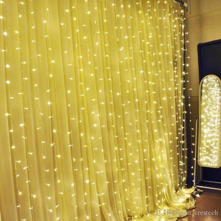 6*3M Holiday decoration LED christmas lights LED curtain LED strip Christmas light Indoor outdoor using strip