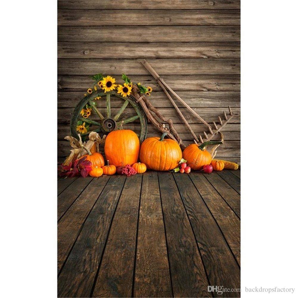 Halloween Theme Photography Backdrops Vintage Wood Wall Floor ...