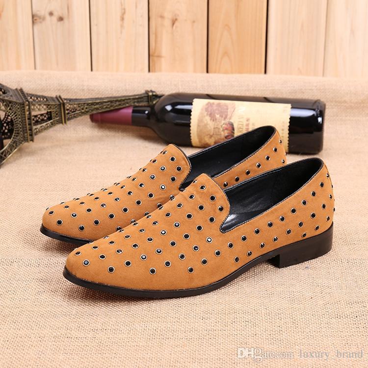 2016 Venda Quente de Alta Qualidade Homens Moda Nubuck Couro Apontou Toe Sapatos Diariamente Vestido Sapatos Baixos Homens Outono Flats Plus Size 37-47