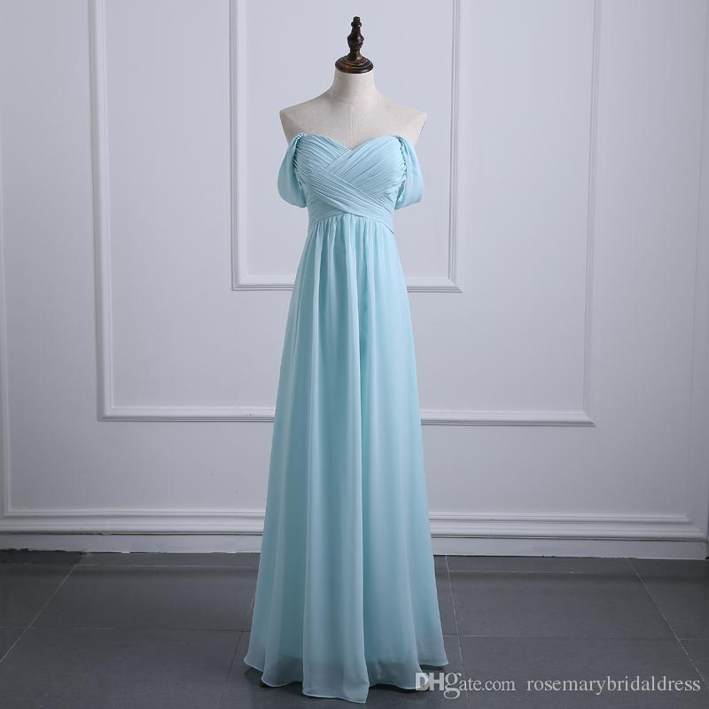 Light Sky Blue Bridesmaid Dresses 2017 New Fashion Hot Sale Formal
