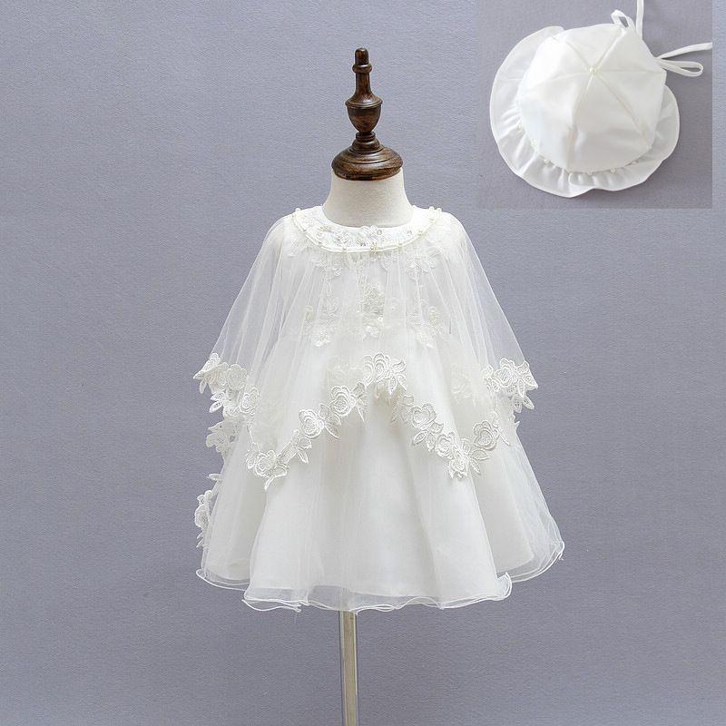 9b7f27082 2015 Newborn Baby Christening Gown Infant Girl's White Princess Lace  Baptism Dress Toddler Baby Girl Chiffon Dresses 3pcs/set