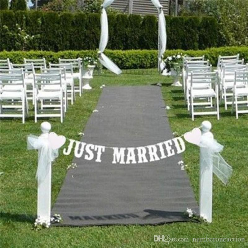 """JUST MARRIED"" Wedding Banner Party Decoration Bunting Garland Photo Booth Prop Decor"