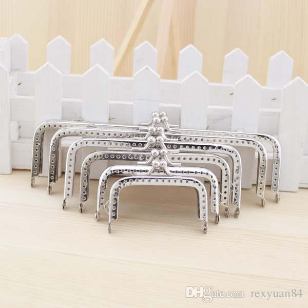 Best Silver Square Coins Purse Frames Metal Kiss Clasp Bags Making ...