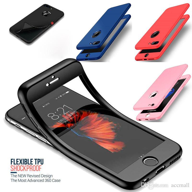 9b4420496e3 Protectores Para Celulares Personalizados Para IPhone 10 X Funda Protectora  De Cuerpo Completo Cubierta De Gel De TPU Híbrido Ultra Delgado A Prueba De  ...