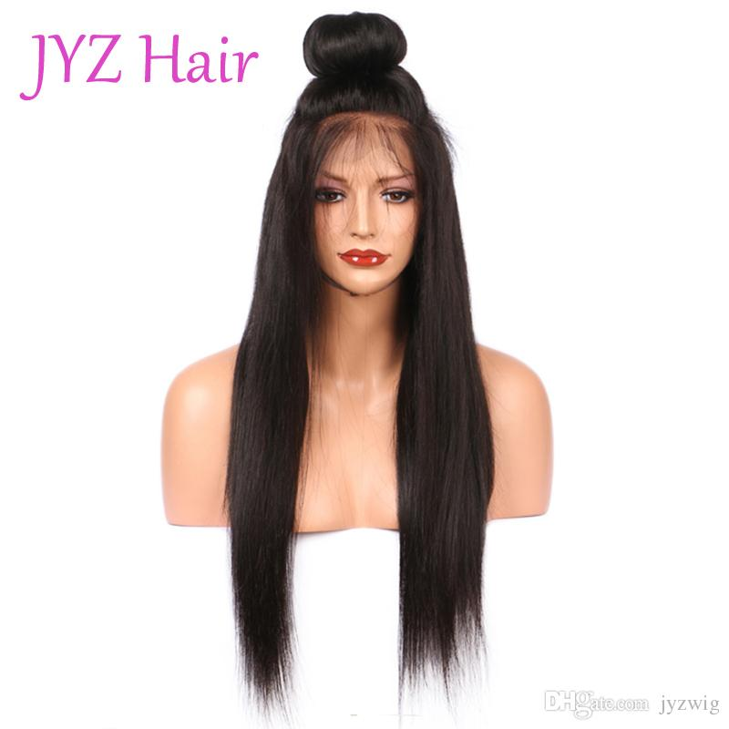 Great Quality Full Lace Wigs Indian Brazilian Straight Virgin Human Hair Lace Front Wigs Fashion Straight Hair With Adjustable Strands