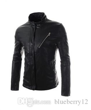 Winter Mens Locomotive Jacket Brand PU Leather Hooded Jacket Men Motorcycle Overcoat Large Size Men leather jackets