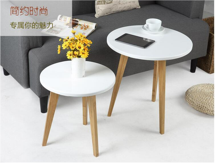 Small Square Accent Table: 2018 Small Side Table.High Glass & Wooden Coffee Table