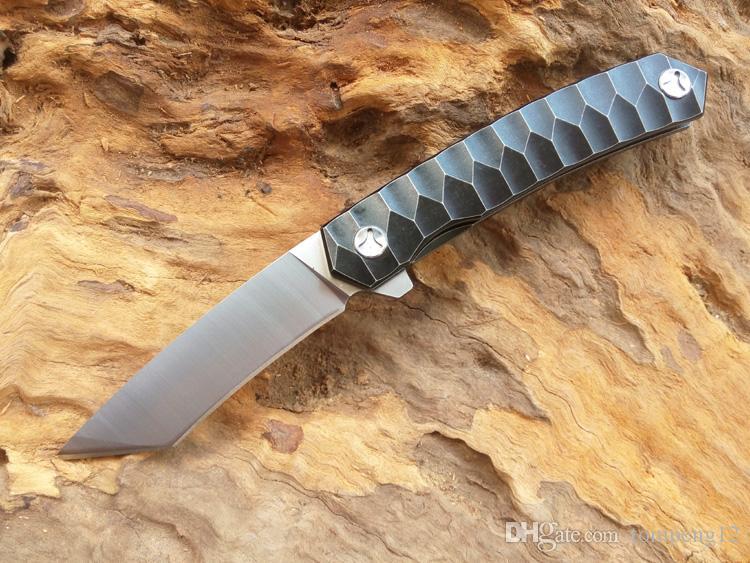 Yeni Öldür 2 titanyum alaşım bıçak D2 60HRC kolu titanyum alaşım katlanır bıçak ve Avcılık Bıçak ücretsiz kargo 1 adet