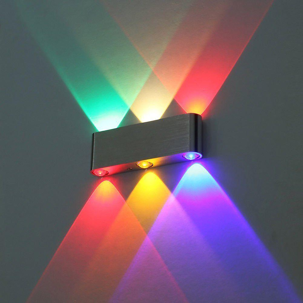 Luz moderna da parede 6W Multi-color Up Down Sconce LED Lighting Lamp Fixture LED