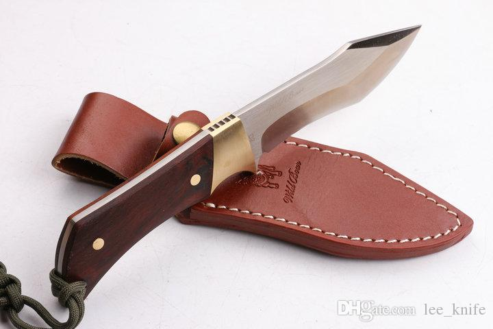 59HRC newer wild boar running straight D2 steel folding knife camping hunting knife folding knife