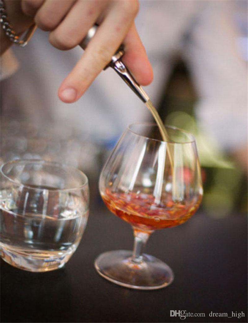 Dispositivo versatore in acciaio inox Vino olio d'oliva olio versatore Dispenser beccuccio bottiglia di vetro versatore vino tappo della bocca