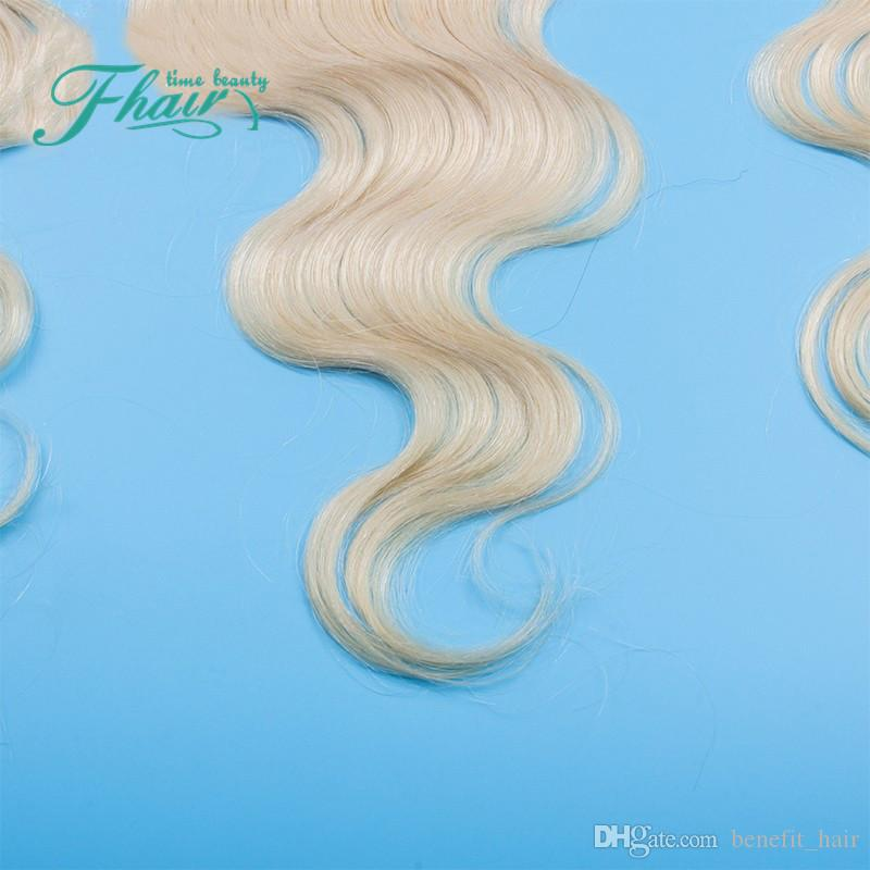 Free Middle 3 Way Part Full Lace Frontal Closure 13x4 Two Tone 1B 613 Dark Root Ombre Body Wave Hair Lace Frontals