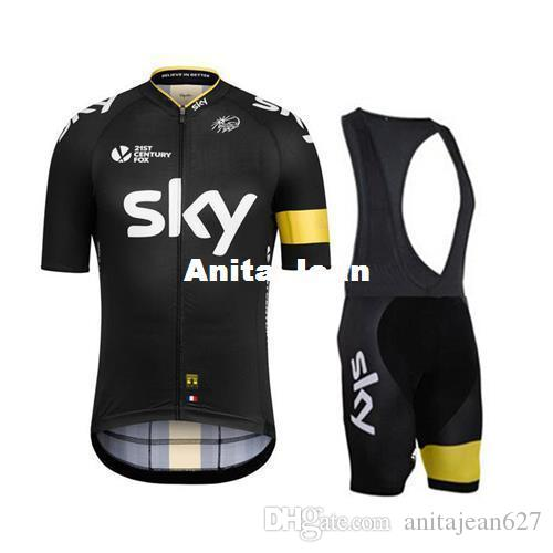 a7dfcf946 Yellow Black Sky 2015 New Arrival Cycling Jersey Set Short SleeveCycling  Clothes With Cycling Jersey+Padded Bib None Bib Cycle Jacket Bib Short From  ...