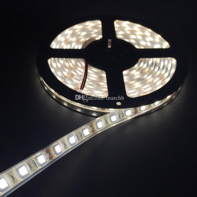 50 м водонепроницаемый IP68 SMD5050 светодиодные полосы света постоянного тока 12 В + женский разъем постоянного тока + 12 В 5A адаптер питания Бесплатная доставка DHL