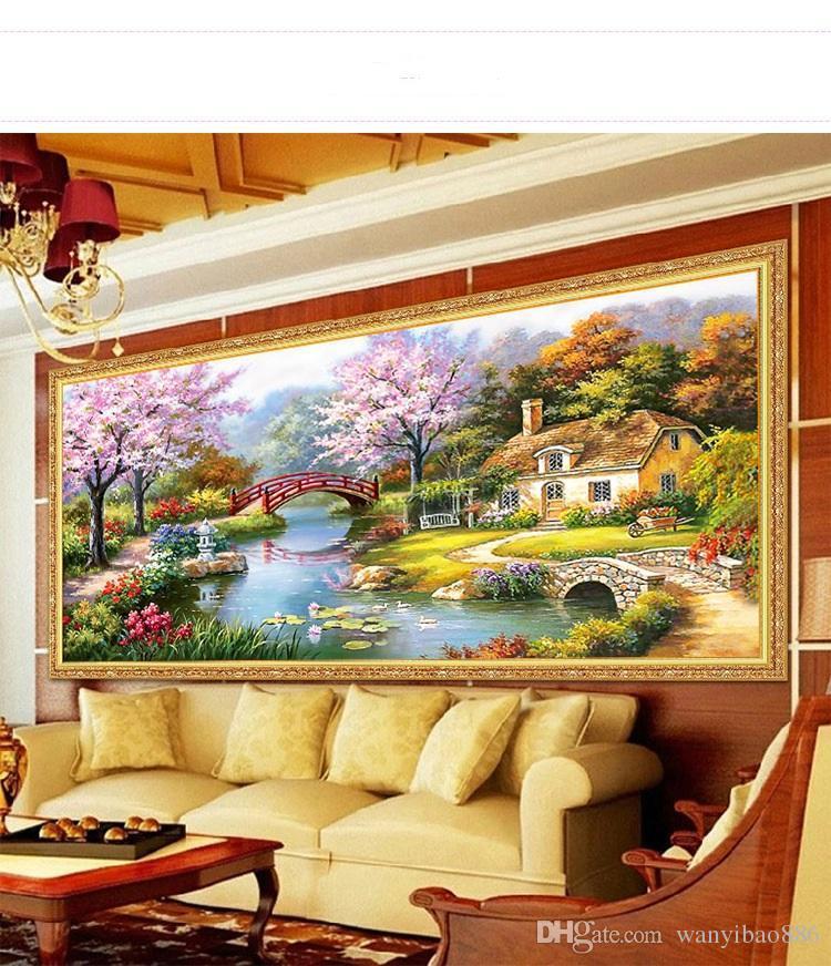 salotto camera da letto diamante Pittura diamante ricamo 5d casa dei sogni casa fai da te trapano diamante noir pittura europea