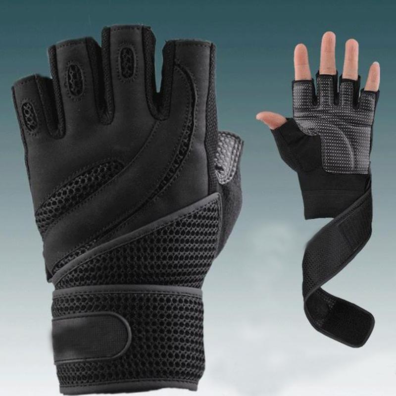 Cheap Fitness Gloves: 2018 Men Gym Body Building Training Fitness Gloves Sports