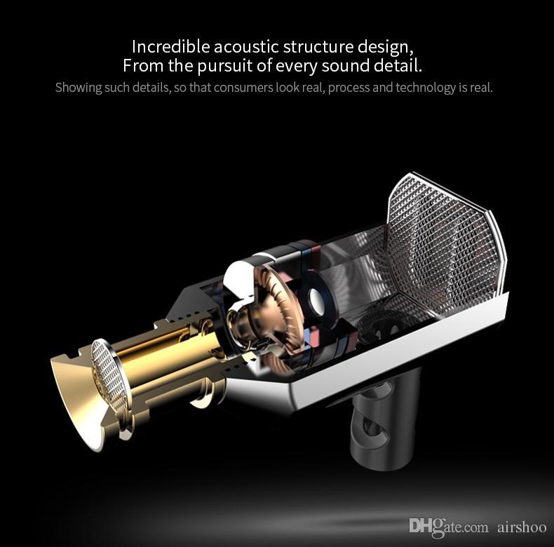 2016 جديد kz ED9 في الأذن سماعات dj سماعة مع ميكروفون إلغاء الضوضاء الصوت الشفاف 2 ألوان السلكية سماعة جودة عالية