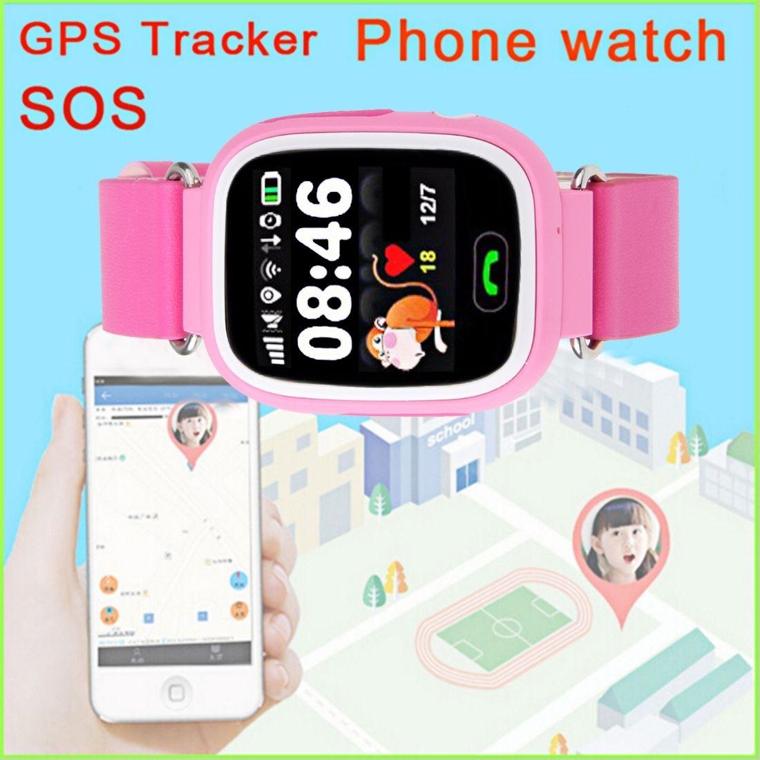 1.22 Сенсорный Экран Смарт-Часы Дети Малыш Наручные Часы SIM-Телефон GSM GPS Локатор Трекер Анти-Потерянный Smartwatch Детской Охраны для iOS Android