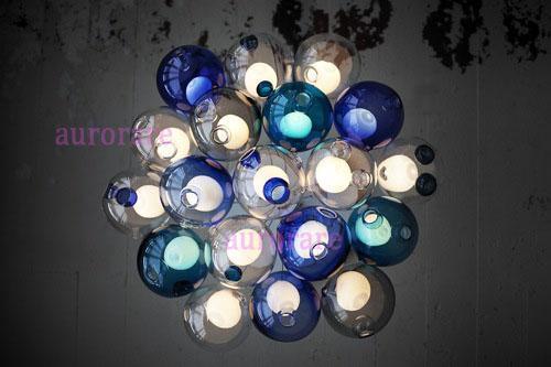 venta al por mayor color de la bola de cristal araa de luces colgantes de cristal de colores esferas modernas lmpara de suspensin lmparas de cristal de